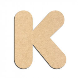 Lettre en bois à décorer K - Alphabet Bubble