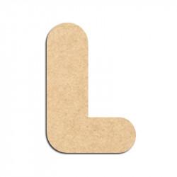 Lettre en bois à décorer L - Alphabet Bubble