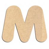 Lettre en bois à décorer M - Alphabet Bubble