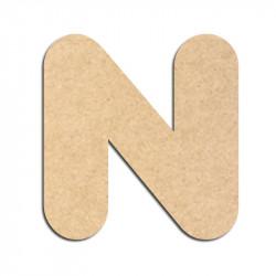 Lettre en bois à décorer N - Alphabet Bubble