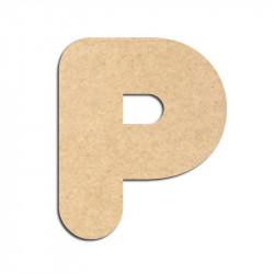 Lettre en bois à décorer P - Alphabet Bubble