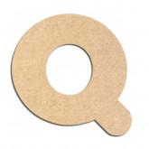 Lettre en bois à décorer Q - Alphabet Bubble