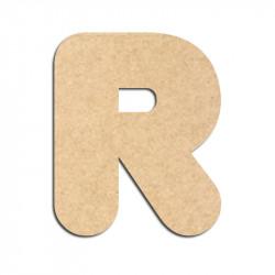 Lettre en bois à décorer R - Alphabet Bubble
