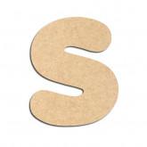 Lettre en bois à décorer S - Alphabet Bubble