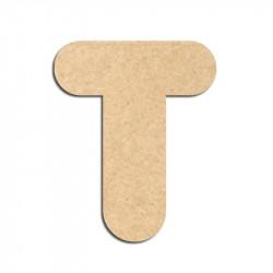 Lettre en bois à décorer T - Alphabet Bubble