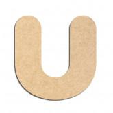 Lettre en bois à décorer U - Alphabet Bubble