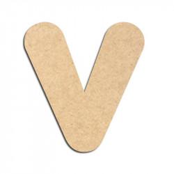 Lettre en bois à décorer V - Alphabet Bubble