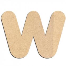 Lettre en bois à décorer W - Alphabet Bubble