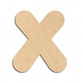 Lettre en bois à décorer X - Alphabet Bubble