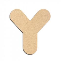 Lettre en bois à décorer Y - Alphabet Bubble