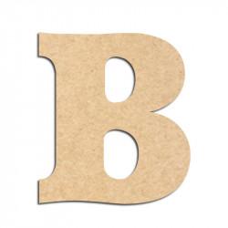 Lettre en bois à décorer B - Alphabet Détente