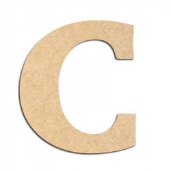 Lettre en bois à décorer C - Alphabet Détente