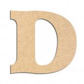 Lettre en bois à décorer D - Alphabet Détente