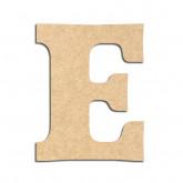 Lettre en bois à décorer E - Alphabet Détente