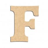 Lettre en bois à décorer F - Alphabet Détente