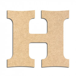Lettre en bois à décorer H - Alphabet Détente