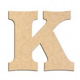 Lettre en bois à décorer K - Alphabet Détente