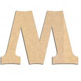 Lettre en bois à décorer M - Alphabet Détente