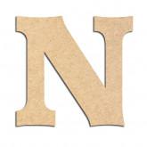 Lettre en bois à décorer N - Alphabet Détente
