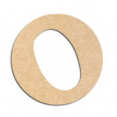 Lettre en bois à décorer O - Alphabet Détente