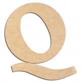 Lettre en bois à décorer Q - Alphabet Détente