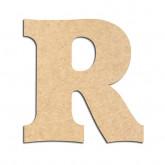 Lettre en bois à décorer R - Alphabet Détente