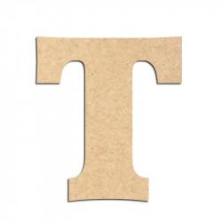 Lettre en bois à décorer T - Alphabet Détente
