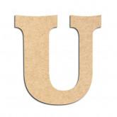 Lettre en bois à décorer U - Alphabet Détente