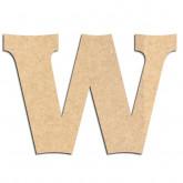 Lettre en bois à décorer W - Alphabet Détente