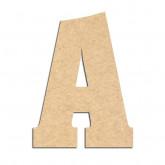 Lettre en bois à décorer A- Alphabet Hansen