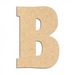 Lettre en bois à décorer B- Alphabet Hansen