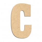 Lettre en bois à décorer C- Alphabet Hansen