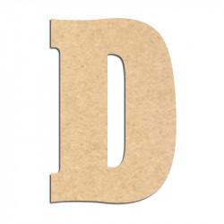 Lettre en bois à décorer D- Alphabet Hansen