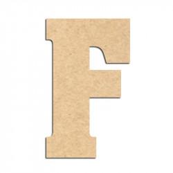Lettre en bois à décorer F- Alphabet Hansen
