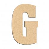 Lettre en bois à décorer G- Alphabet Hansen