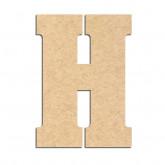 Lettre en bois à décorer H- Alphabet Hansen