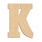 Lettre en bois à décorer K- Alphabet Hansen