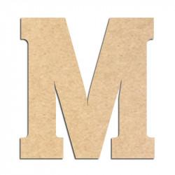 Lettre en bois à décorer M- Alphabet Hansen