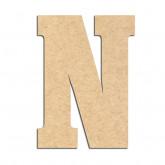 Lettre en bois à décorer N- Alphabet Hansen