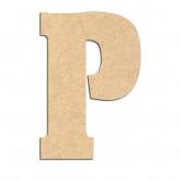 Lettre en bois à décorer P- Alphabet Hansen