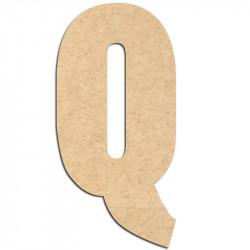 Lettre en bois à décorer Q- Alphabet Hansen