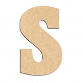 Lettre en bois à décorer S- Alphabet Hansen