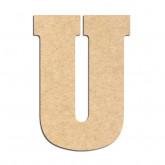 Lettre en bois à décorer U- Alphabet Hansen
