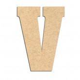 Lettre en bois à décorer V- Alphabet Hansen