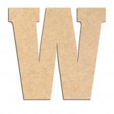 Lettre en bois à décorer W- Alphabet Hansen
