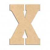 Lettre en bois à décorer X- Alphabet Hansen
