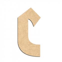 Lettre en bois à décorer C- Alphabet Hombre