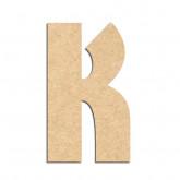 Lettre en bois à décorer K- Alphabet Hombre