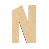 Lettre en bois à décorer N- Alphabet Hombre