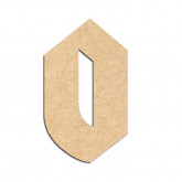 Lettre en bois à décorer O- Alphabet Hombre